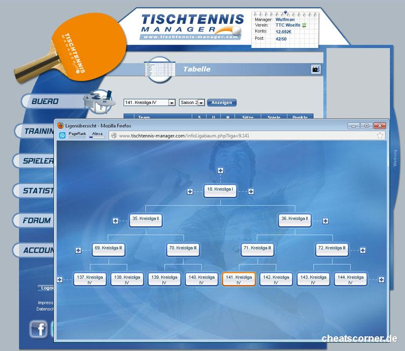 Tischtennis Manager Screenshot #3